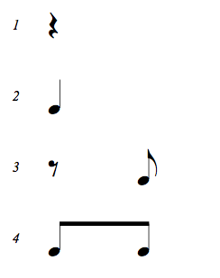 Complete Rhythms cheat sheet for Quarter Note with 8th Notes